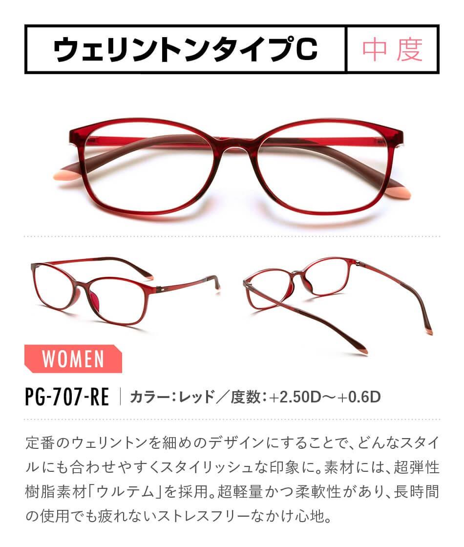 ピントグラス 老眼鏡 全17タイプ PG-707-RE