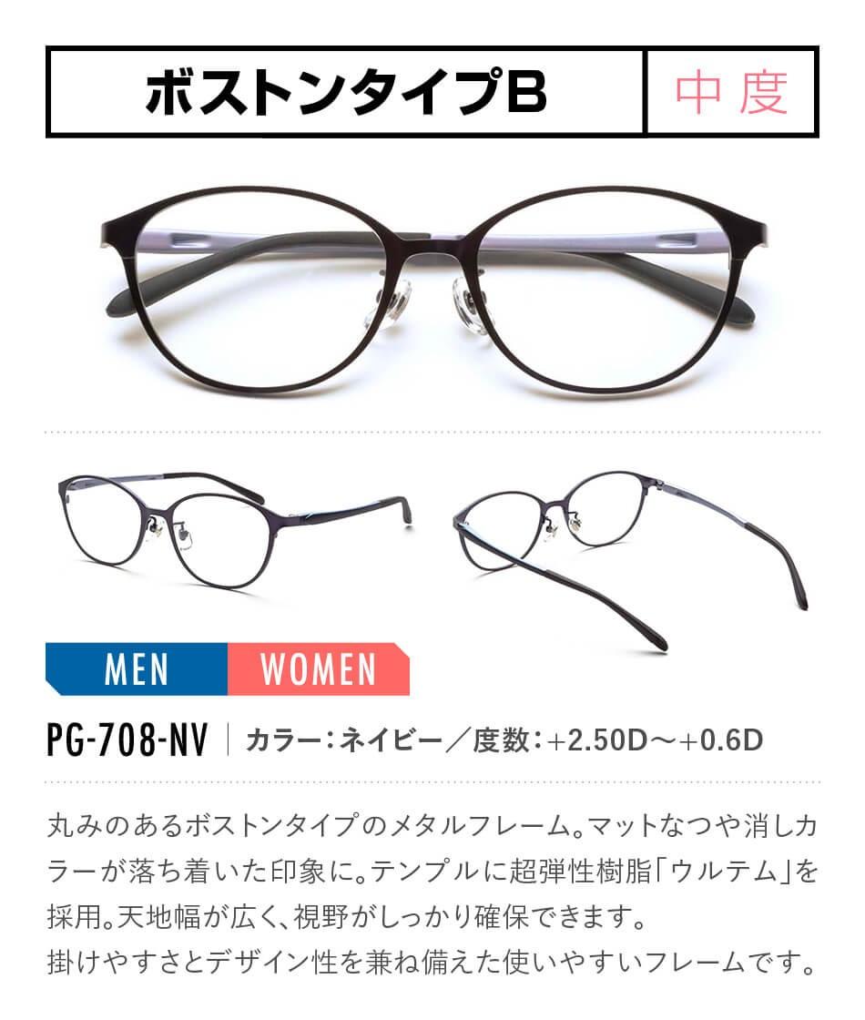 ピントグラス 老眼鏡 全17タイプ PG-708-NV