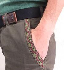 必要な長さにカットして、ポケットの縁に縫