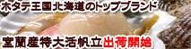 ついに解禁、ほたて養殖発祥の地、北海道噴火湾は室蘭産の貝柱が大きな活帆立3年貝を北海道からお取り寄せ。