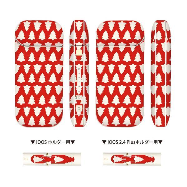 IQOSのための スキンシール 全面 2.4 2.4Plus 両対応 シール ステッカー フルセット 電子タバコ mset-iqcp [クリスマス 赤 レッド]|oobikiyaking|05