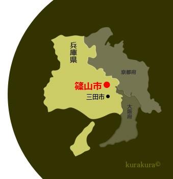 丹波地方の地図
