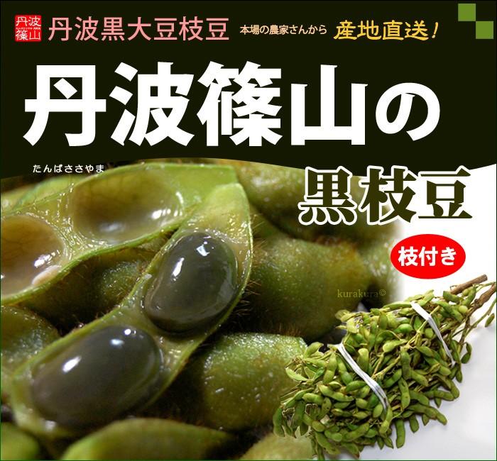丹波篠山の黒枝豆(枝付き2kg)販売/通販
