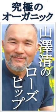 山澤清の100%オーガニック化粧品ローズヒップシリーズ
