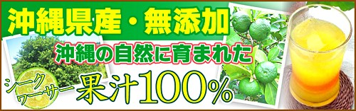 国産!無添加!沖縄の自然に育まれた「シークヮーサー」沖縄産 果汁100%