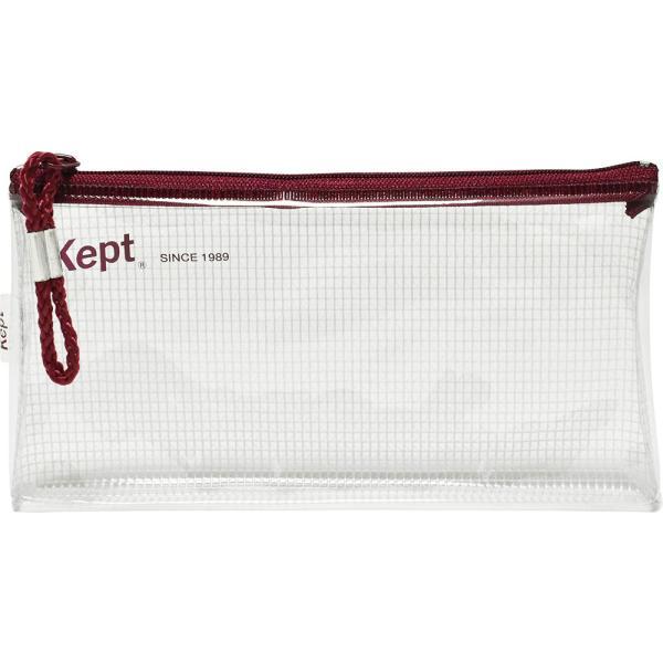 クリアポーチ スリムペンケース ペンポーチ ペンケース クリア Kept プチプラ シンプル ギフト カラーペン 蛍光ペン  KPF602W KPF602R KPF602V KPF602K KPF602H|opabinia|15