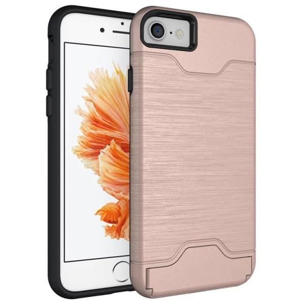 47ed789720 iPhone8 ケース iPhone 8 Plus ケース 耐衝撃 メタル スタンド ハード カード ポケット iPhone 7 ケース