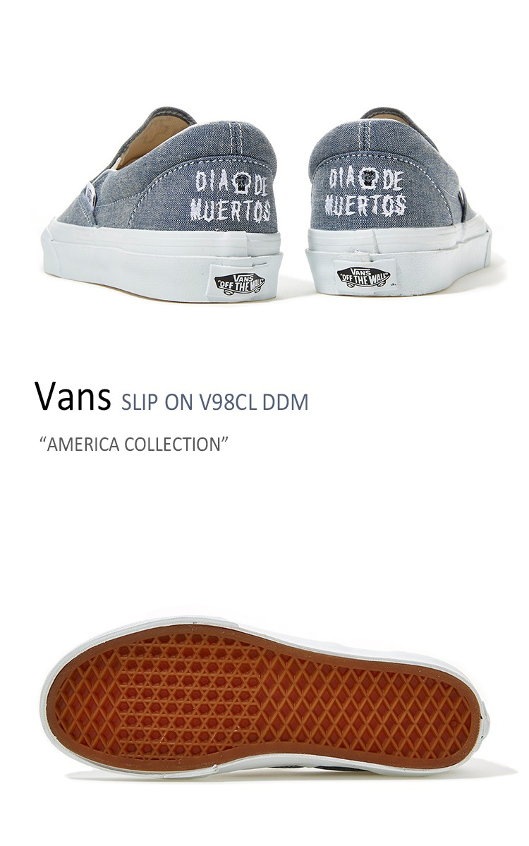 50df58fb82 送料無料 Vans SLIP ON V98CL DDM america colloction NAVY バンズ ...