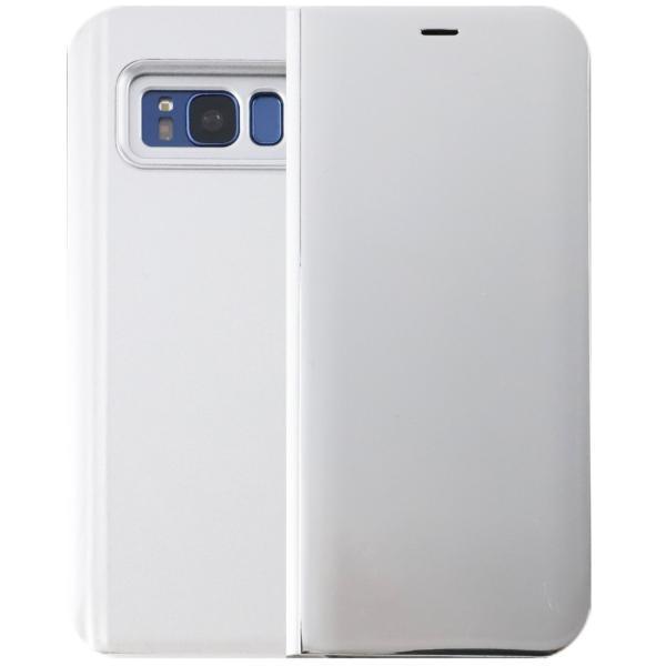 Galaxy S8 ケース 手帳型 SC-02J SCV36 GalaxyS8 ミラー カバー 光沢 耐衝撃 ケース 手帳 ギャラクシーS8 orancio 09