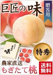 山梨県産 特秀桃 約2kg 5〜8玉入