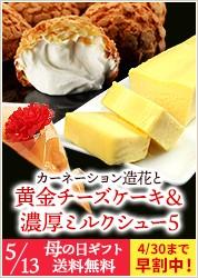 造花&黄金チーズとシュークリームセット