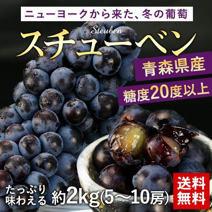 ニューヨークから来た、冬の葡萄スチューベン 送料無料◇青森県産◇糖度20度以上