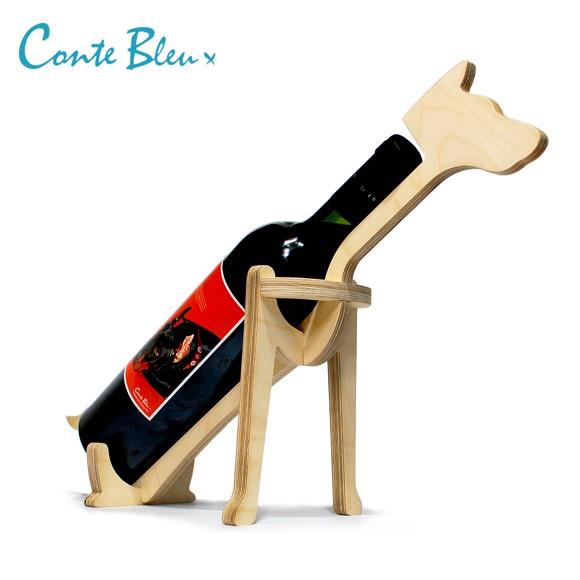 Conte Bleu コント・ブルー アニマルボーン ワインラック ドーベルマン おしゃれな動物の木製ワインラック