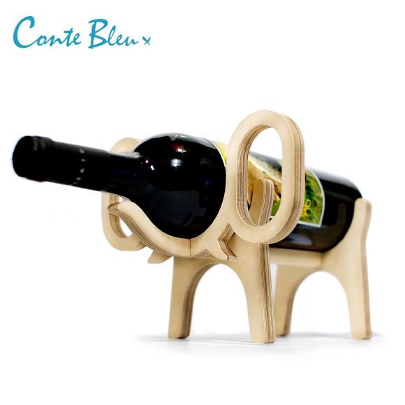Conte Bleu コント・ブルー アニマルボーン ワインラック エレファント おしゃれな動物の木製ワインラック