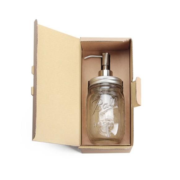 メイソンジャー ソープ ディスペンサー ハンドソープ ガラス瓶