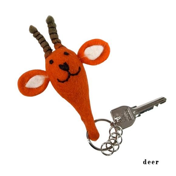 felt animal key ring フェルト アニマル キーリング キーホルダー 鍵