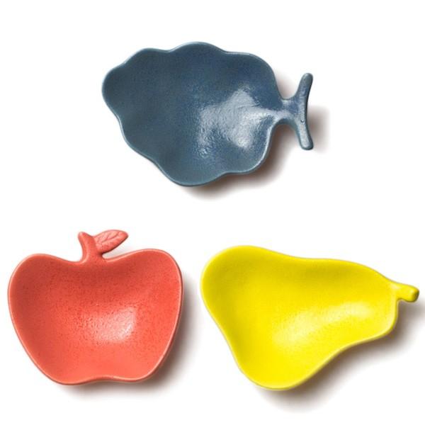 フルーツ トレイ 小皿 豆皿 おしゃれ かわいい 果物型 カラフル 日本土産 日本製