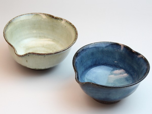 萩焼 Shikisai まめ碗皿 ペアセット ギフトボックス 木箱入り 桜色 陶器