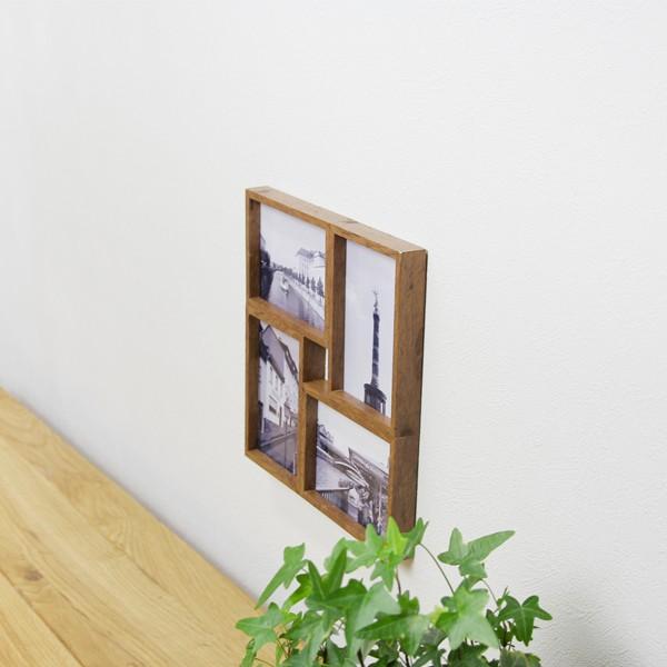 HARROW 4 おしゃれ フォトフレーム 4枚飾れる木枠風の写真立て