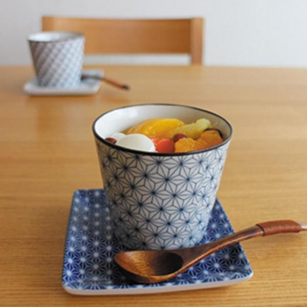 印判 蕎麦猪口 おしゃれ 陶器 湯呑 食器 小鉢 角皿