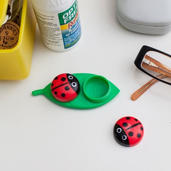 レディーバグ コンタクトケース おしゃれ かわいい てんとう虫デザイン