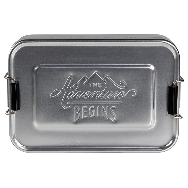 Wild & Wolf ジェントルマン ハードウェア ランチ ティン アルミ製 お弁当箱 ランチボックス シルバー ゴールド