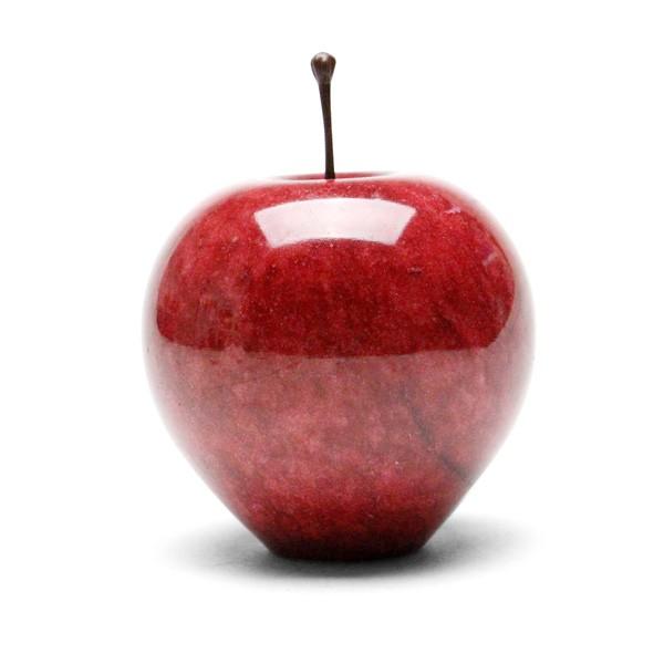 ペーパーウェイト おしゃれ リンゴ マーブルアップル レッド ラージ りんご オブジェ おしゃれ リンゴ 置物 石製