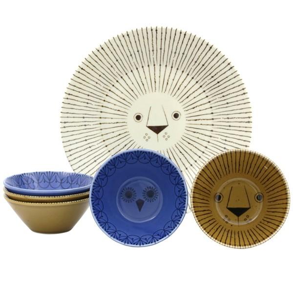 ミッケ パーティーボウルセット 動物柄の食器セット お皿 プレート ボウル 日本製 和食器