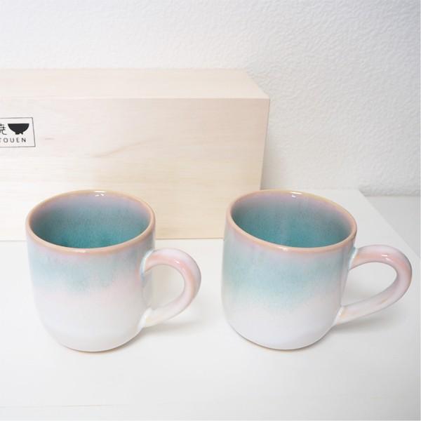 萩焼 Shikisai トリオプレート ギフトボックス 木箱入り 桜色 陶器