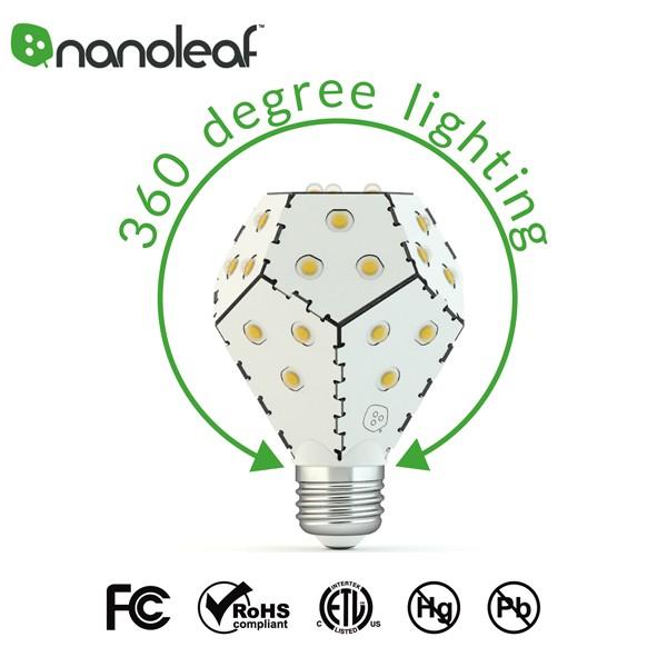 nonoleaf bloom ナノリーフ ブルーム 調光機能付きLED電球