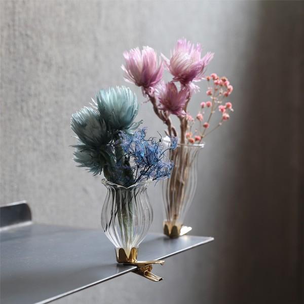 ペタルクリップ 花瓶 クリップ式 ミニ フラワーベース おしゃれ かわいい ドライフラワー 一輪挿し インテリア