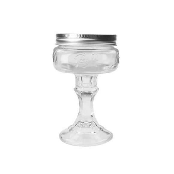 おしゃれなビンのマティーニ グラス レッドネック メイソンジャー ガラス瓶 コップ
