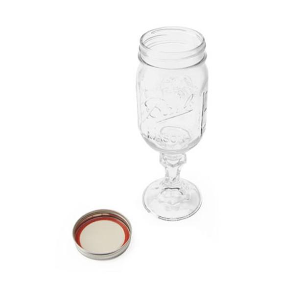 おしゃれなビンのワイングラス レッドネック ワイン メイソンジャー ガラス瓶 コップ