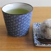 和食器 印判 蕎麦猪口 青 おしゃれな陶器の湯飲み 湯呑み 陶器 日本製