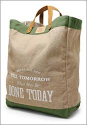 タフバッグ おしゃれな麻のバッグ ランドリーバッグ エコバッグ 手提げバッグ