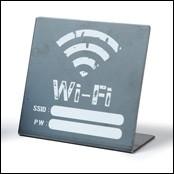 アイアン プレート Wi-Fi パスワード 案内板 日本製 おしゃれ インテリア 備品