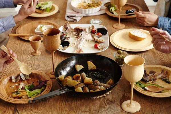 RIVERET 竹製のおしゃれ食器 ワイングラス マグカップ