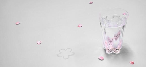 サクラサクグラス 桜の花びらの形をしたおしゃれなグラス さくら