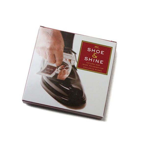 shoe & sine シュー&シャイン 5パック入り 携帯用シューズクリーナー 革用クリーム