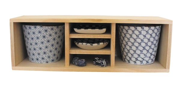 印判 蕎麦猪口 梅小鉢 箸置き 木箱