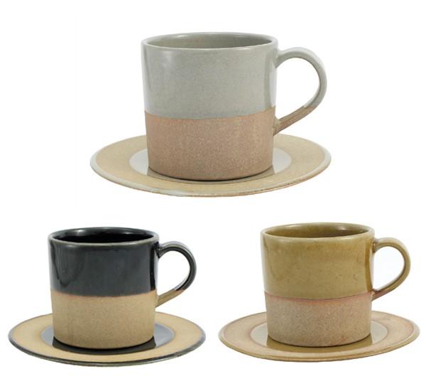 SOIL ソイル マグカップとプレートのセット カップ&ソーサー コーヒーカップ 陶器 日本製