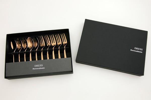ペロカリエンテ ドレス ティースプーン ティーフォーク ゴールド ステンレス 日本製