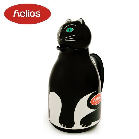 helios・ヘリオス・卓上ポット・保温・魔法瓶・サーモキャット・黒猫