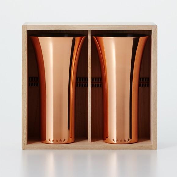純銅製 タンブラー 2個セット ミラー ペアセット ビールグラス 日本製 WDH