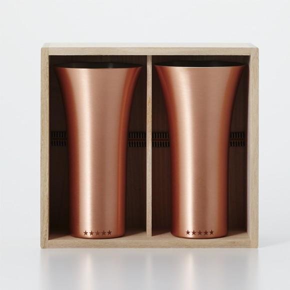 純銅製 タンブラー 2個セット マット ペアセット ビールグラス 日本製 WDH