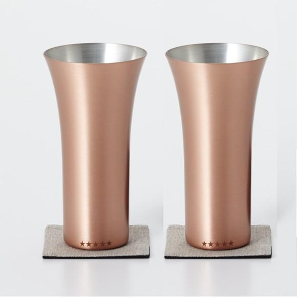 WDH 純銅製 タンブラー 2個セット マット ペアセット ビールグラス 日本製