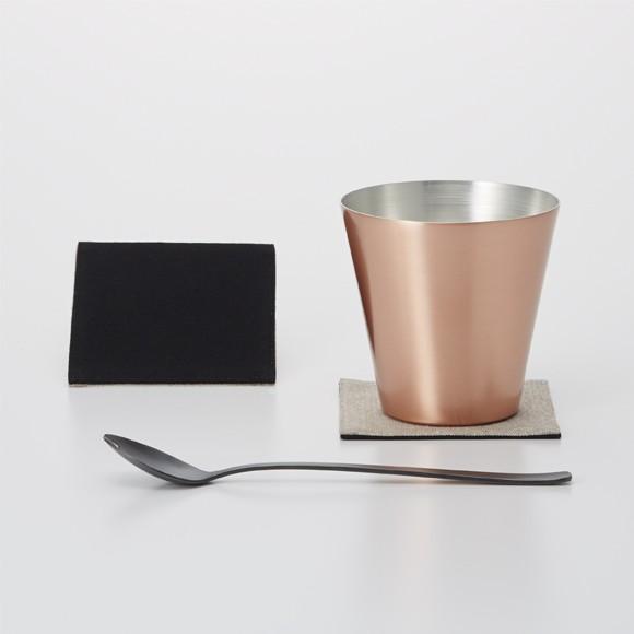 WDH 純銅製 オールド&スプーン マット ロックグラス 日本製