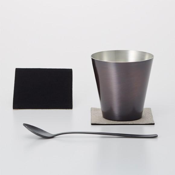 WDH 純銅製 オールド&スプーン ブラウン ロックグラス 日本製