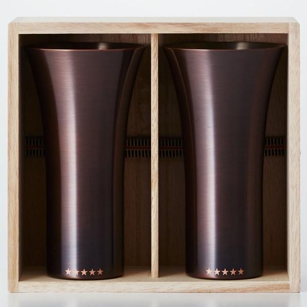 純銅製 タンブラー 2個セット ブラウン ペアセット ビールグラス 日本製 WDH