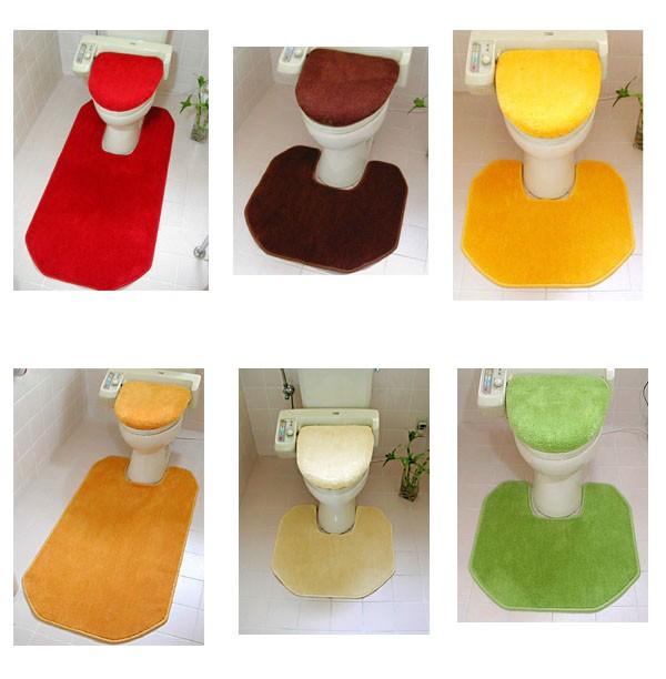 狭いトイレから広いトイレまで様々なサイズにカラフルなトイレマットをお作りします。